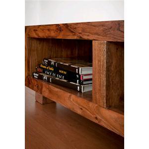 Porta tv tavolino chiaro in legno massello di acacia - Consolle porta tv ...