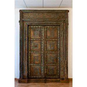 Porta antica originale in legno massello di teak porte india world store - Porta in legno massello ...