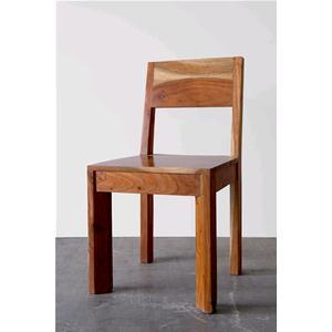Sedia in legno massello di acacia chiara - Sedie e Pouf # India World ...