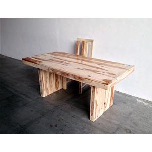 Tavolo moderno in legno massello di palissandro sbiancato - Tavolo legno grezzo moderno ...