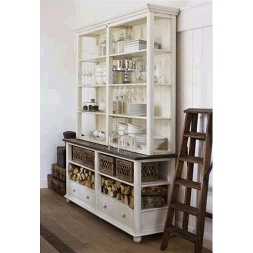 Libreria credenza in legno massello di acacia - Bookcases # India ...