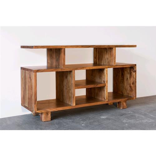 Porta tv in legno massello di acacia chiaro consolle e - Consolle porta tv ...