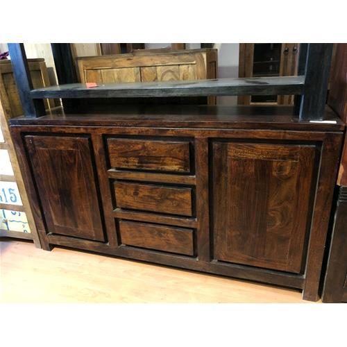 Credenza in legno massello acacia scura - Dressers # India World Store