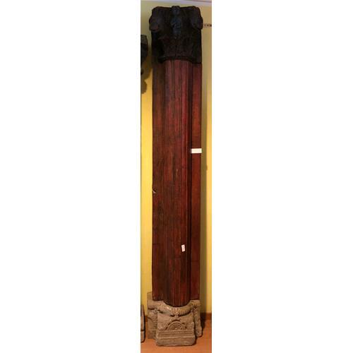 Colonna originale in legno massello di teak dipinta a mano - Columns ...