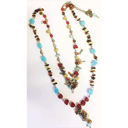 grande vendita la più grande selezione una grande varietà di modelli Collana con pietre colorate