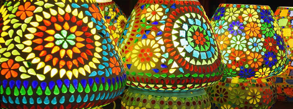 Handmade mosaic Glass table lamps