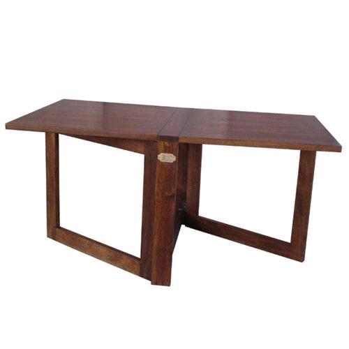 Tavolo da pranzo richiudibile in legno massello di acacia - Tavolo richiudibile ...