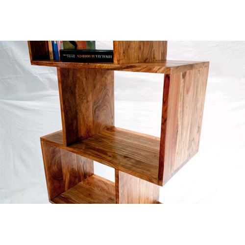Libreria Zig Zag colore naturale in legno massello di acacia ...