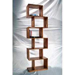 Zig Zag Library natural color in solid acacia - Bookcases # India ...