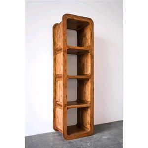 Libreria 4 cubi in legno massello acacia chiaro - Librerie # India ...