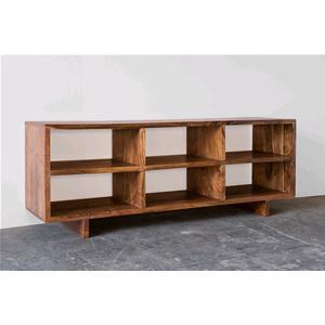 Porta tv in legno massello di acacia scuro consolle e mobili tv india world store - Dalani mobili porta tv ...