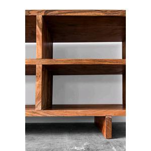 Porta tv in legno massello di acacia scuro consolle e - Consolle porta tv ...