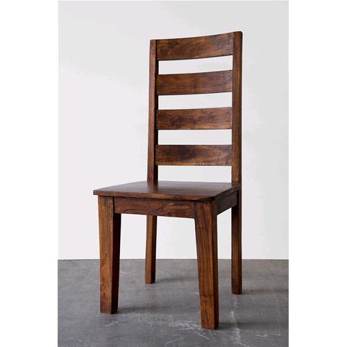 Sedia in legno massello di acacia con schienale alto chiara - Sedie ...