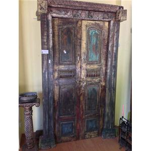 Porta originale in legno massello di teak - Porte # India World Store