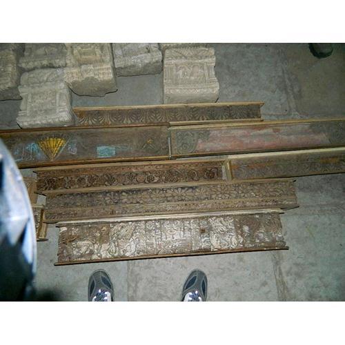 Mensola originale in legno massello di teak con intarsi fatti a mano ...