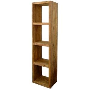 Libreria sheesham in legno massello di palissandro h. 180 cm ...