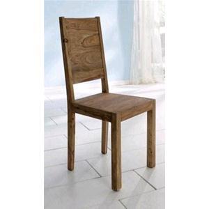 Sedia sheesham in legno massello di palissandro finitura nera ...