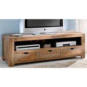 Porta Tv sheesham in legno massello di palissandro finitura nera ...
