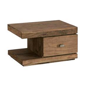 Comodino sheesham in legno massello di palissandro finitura nera ...