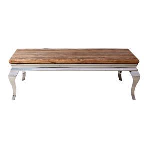 Tavolino Steel In Legno Massello Di Palissandro Con Gambe Curve In Acciaio Tavoli E Scrivanie India World Store