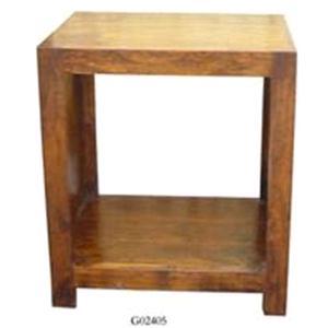 Libreria in legno massello di acacia naturale h. 50 cm.