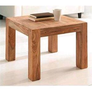 Tavolino sheesham in legno massello di palissandro finitura nera ...