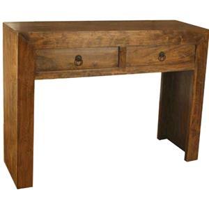Consolle in legno massello acacia con 2 cassetti chiara for Consolle con cassetti