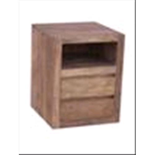 Comodino in legno massello di Palissandro scuro