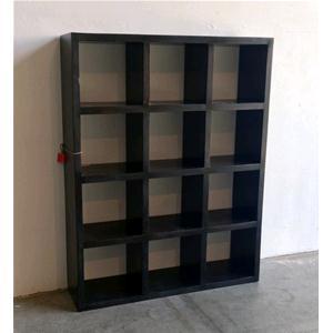 Libreria sheesham in legno massello di palissandro finitura nera ...