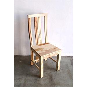 Sedia moderna in legno massello di palissandro sbiancato
