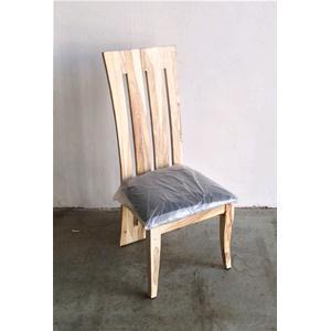 Sedia moderna in legno massello di palissandro sbiancato cuscino ...