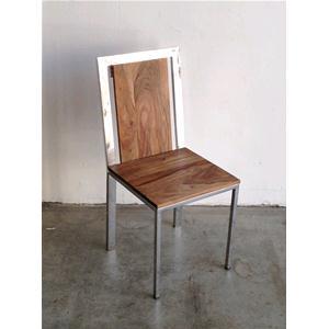 Sedia steel in legno massello di palissandro con struttura in ...