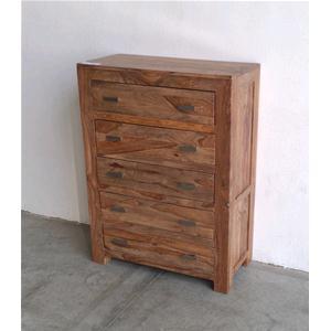 Cassettiera sheesham in legno massello di palissandro ...