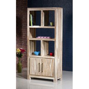 Libreria in legno massello di palissandro sbiancato