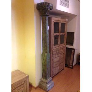 Colonna originale in legno massello di teak dipinta a mano - Colonne ...