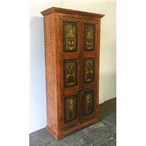Armadio originale da porta dipinta a mano in legno massello di ...